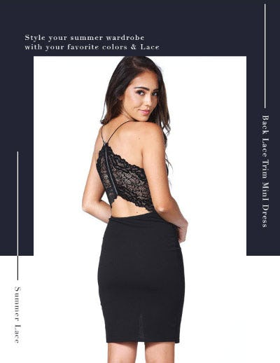 Back Lace Triim Mini Dress from Papaya