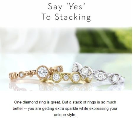 Shop Our Stackable Rings from Ben Bridge Jeweler