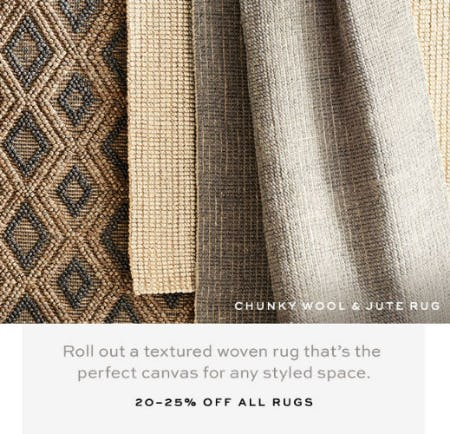 20-25% Off All Rugs from Pottery Barn