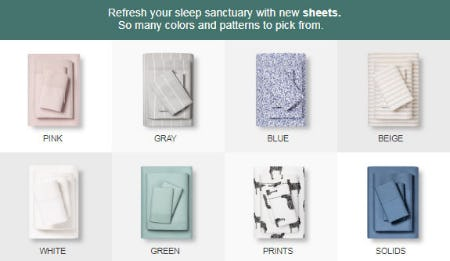 Shop New Sheets from Target
