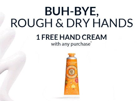 1 Free Hand Cream With Any Purchase