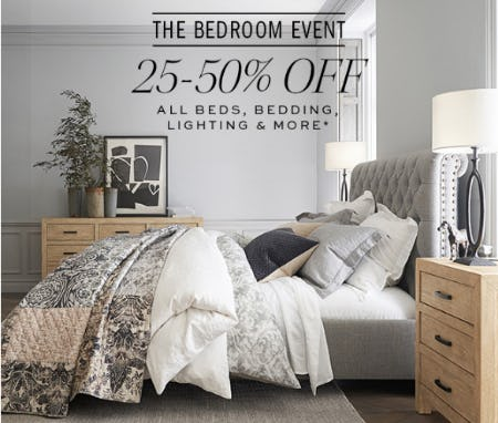 The Bedroom Event 25-50% Off from Pottery Barn