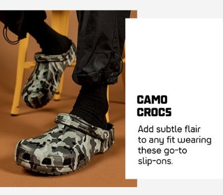 Camo Crocs from Foot Locker
