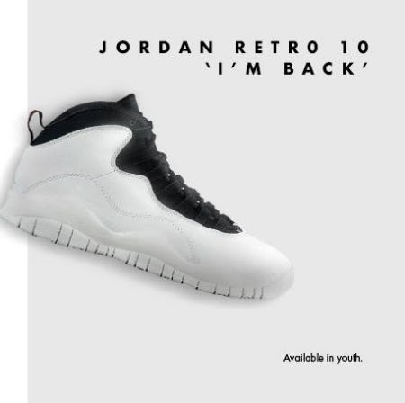 Jordan Retro 10 from Champs Sports