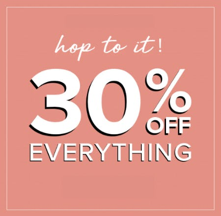 30% Off Everything from Fashion To Figure