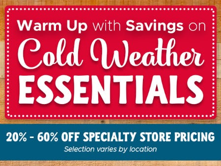 Savings on Cold Weather Essentials from Tuesday Morning