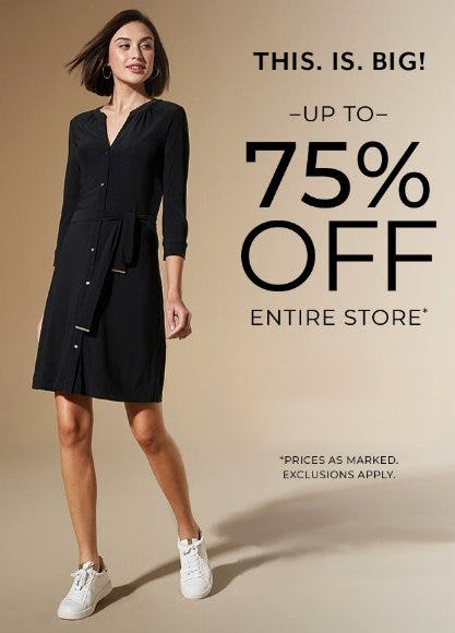 Up to 75% Off Entire Store