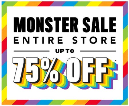 Entire Store up to 75% Off from The Children's Place