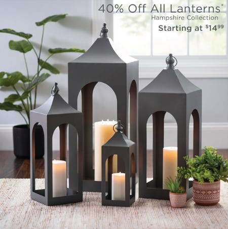40% Off All Lanterns from Kirkland's
