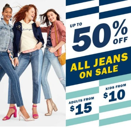 Up to 50% Off All Jeans on Sale from Old Navy