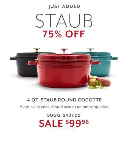 75% Off Staub from Sur La Table