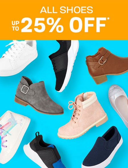 Up to 25% Off All Shoes from The Children's Place Gymboree