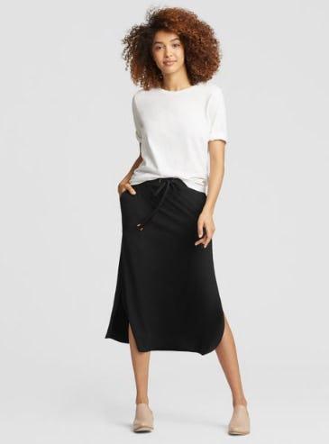 Viscose Jersey Drawstring Skirt from Eileen Fisher