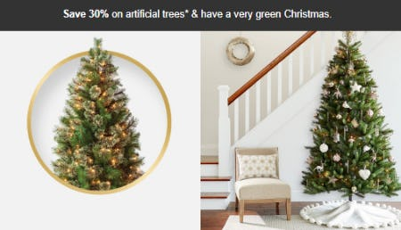 Save 30% on Artificial Trees