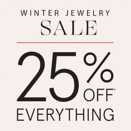25% Off Winter Jewelry Sale