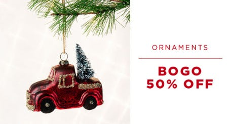 BOGO 50% Off Ornaments from PAPYRUS
