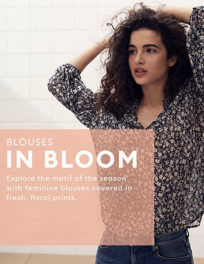 Blouses In Bloom from Banana Republic