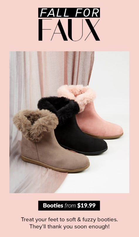 Booties from $19.99 from Rainbow