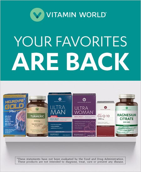 Specific Items Back in Stock at Vitamin World!