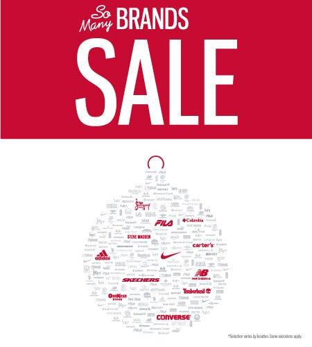 So Many Brands Sale!