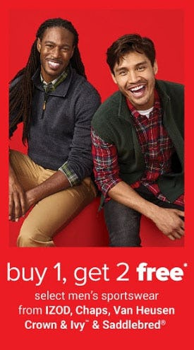 B1G2 Free Select Men's Sportswear from Belk
