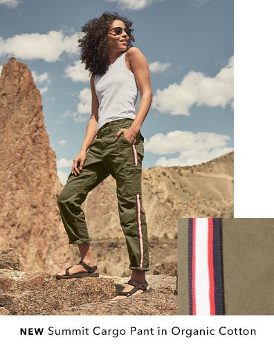 New Summit Cargo Pant in Organic Cotton from Athleta