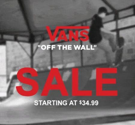 Vans Sale Starting at $34.99