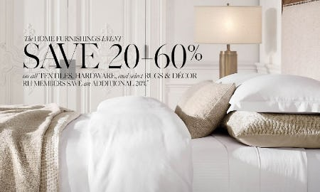 20-60% Off The Home Furnishings Event from Restoration Hardware