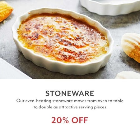 20% Off Stoneware from Sur La Table