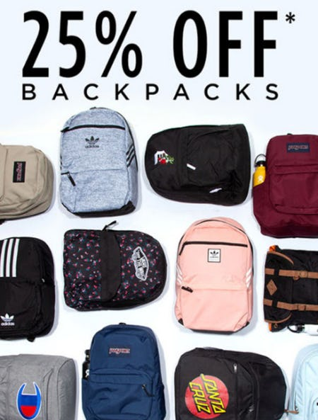 25% Off Backpacks from Tillys