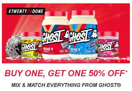 Buy One, Get One 50% Off Mix and Match Everything from GHOST from GNC