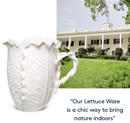Meet the White Lettuce Ware Collection