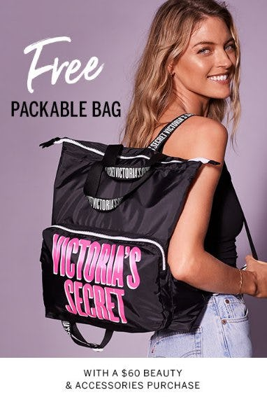Free Packable Bag from Victoria's Secret