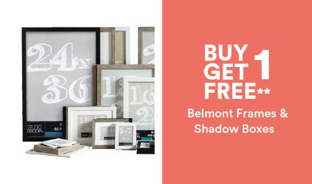 B1G1 Free Belmont Frames & Shadow Boxes from Michaels