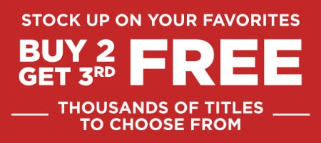 Buy 2, Get 3rd Free on Thousands of Titles to Choose From