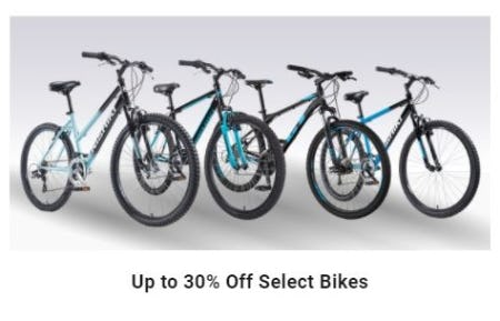 Up to 30% Off Select Bikes