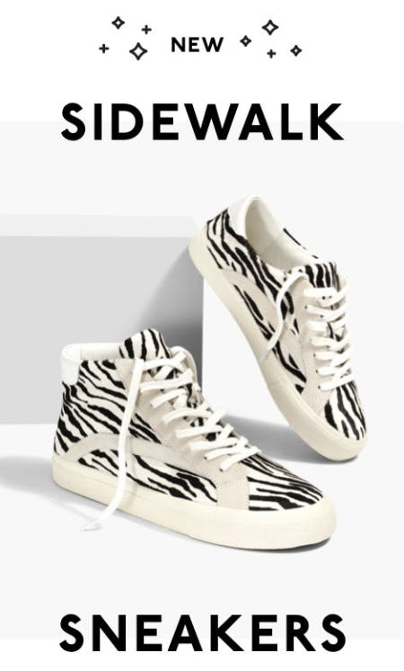 New Sidewalk Sneakers from Madewell