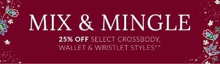 25% Off Select Crossbody, Wallet & Wristlet