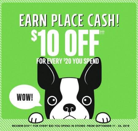 Earn Place Cash from The Children's Place