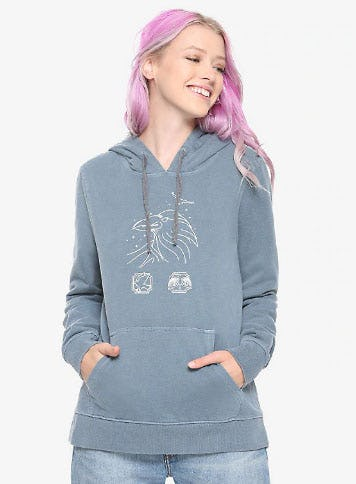 Harry Potter Faded Ravenclaw Girls Hoodie