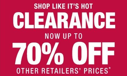 Clearance Now up to 70% Off Other Retailers' Prices from Burlington
