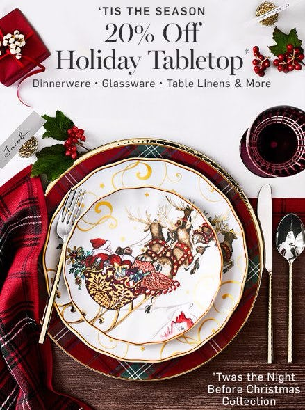 20% Off Holiday Tabletop