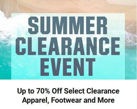 Up to 70% Off Select Clearance Apparel, Footwear and More
