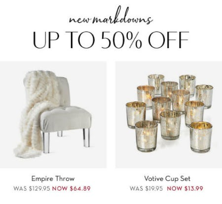 Up to 50% Off New Markdowns from Z Gallerie