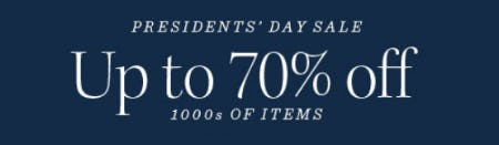 President's Day Sale Up to 70% Off from Pottery Barn