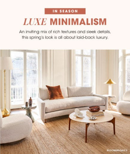 In Season: Luxe Minimalism from Bloomingdale's