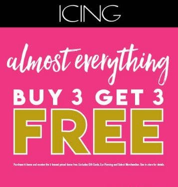 Almost Everything, Buy 3 Get 3 FREE from Icing