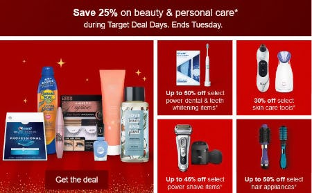 Save 25% on Beauty & Personal Care