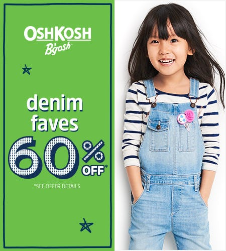 Denim Faves 60% Off*