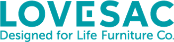 Lovesac Designed For Life Furniture Co Logo